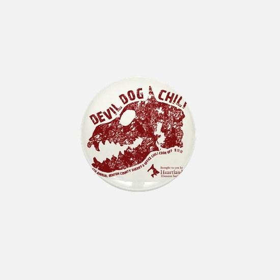 Devil Dog Chili Logo maroon Mini Button