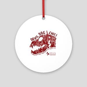 Devil Dog Chili Logo maroon Round Ornament