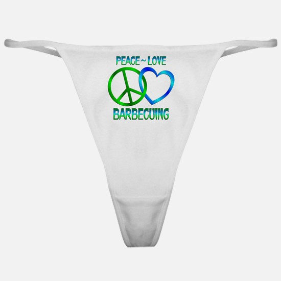 Peace Love Barbecuing Classic Thong