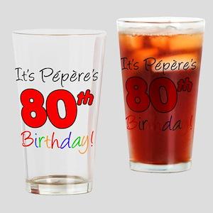 Pepere 80th Birthday Drinking Glass