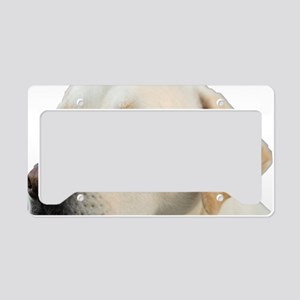 Yellow Lab Head License Plate Holder