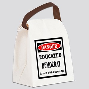 Educated Democrat Canvas Lunch Bag