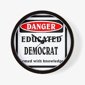 Educated Democrat Wall Clock