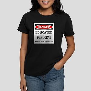 Educated Democrat Women's Dark T-Shirt