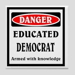 Educated Democrat Tile Coaster