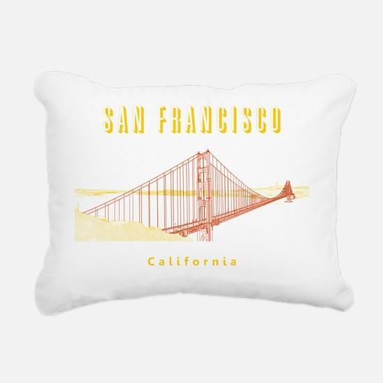 SF_10x10_GoldenGateBridg Rectangular Canvas Pillow