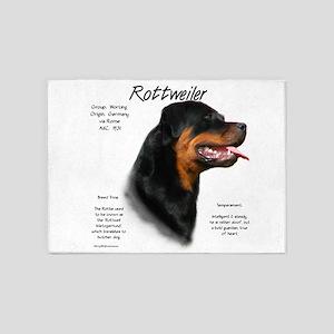 Rottweiler 5'x7'Area Rug