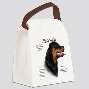 Rottweiler Canvas Lunch Bag