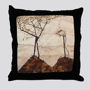 Egon Schiele Autumn Sun And Trees Throw Pillow