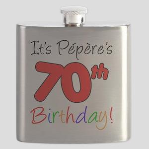 Pepere 70th Birthday Flask