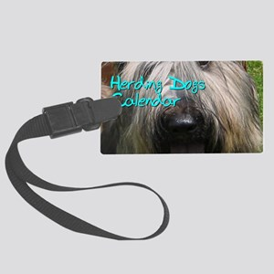 Herding Dogs CALENDAR Large Luggage Tag