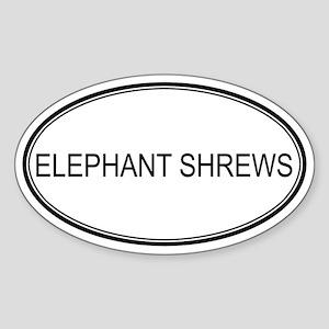 Oval Design: ELEPHANT SHREWS Oval Sticker