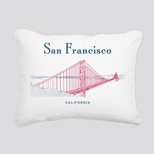 SF_10x10_GoldenGateBridg Rectangular Canvas Pillow