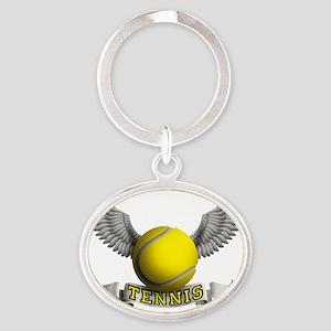 tennis Oval Keychain