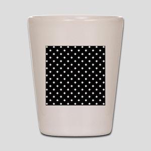 Black and White Polka Dot. Shot Glass