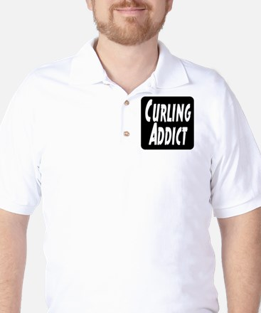 Curling addict Golf Shirt