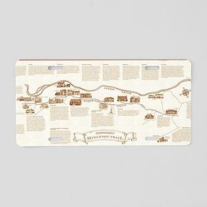 Historic Huguenot Trail Aluminum License Plate