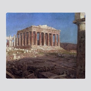 Frederic Edwin Church The Parthenon Throw Blanket