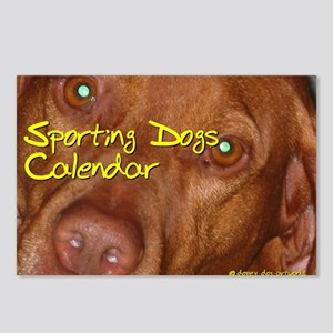 Sporting Dogs CALENDAR Postcards (Package of 8)