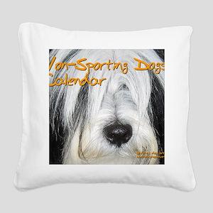 Non-Sporting Dogs CALENDAR Square Canvas Pillow