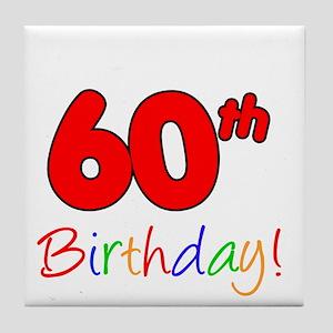 Its Grandpas 60th Birthday Tile Coaster