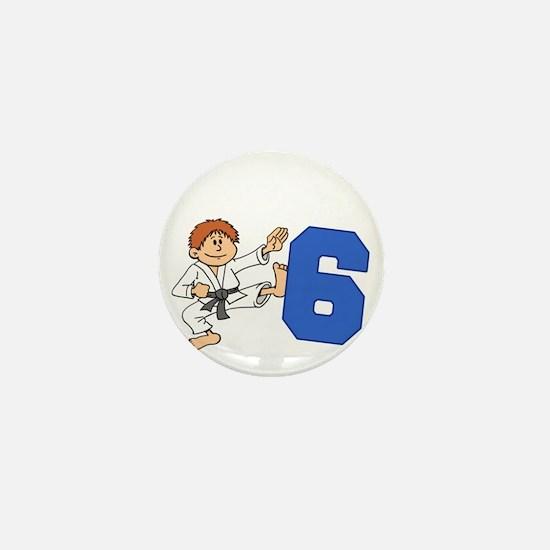 Martial Arts 6th Birthday Mini Button
