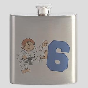 Martial Arts 6th Birthday Flask