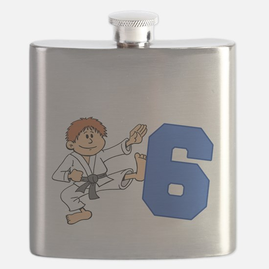 Martial Arts 6th Birthday Flask