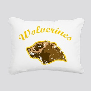 wolverines logo Rectangular Canvas Pillow