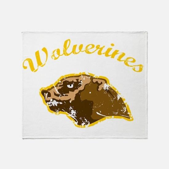 wolverines logo Throw Blanket