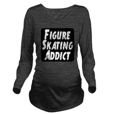 Figure Skating Addic Long Sleeve Maternity T-Shirt