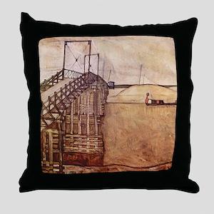 Egon Schiele The Bridge Throw Pillow