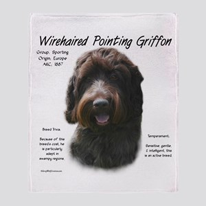 Wirehaired Pointing Griffon Throw Blanket