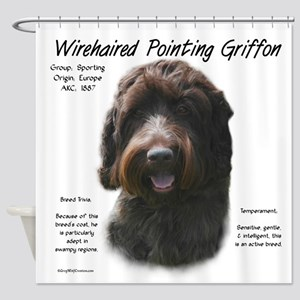 Wirehaired Pointing Griffon Shower Curtain