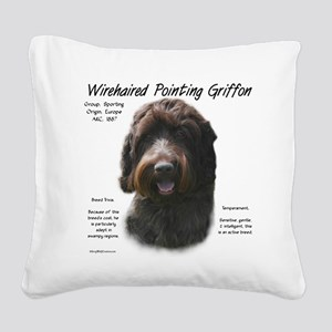 Wirehaired Pointing Griffon Square Canvas Pillow