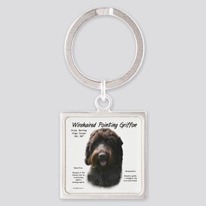 Wirehaired Pointing Griffon Square Keychain