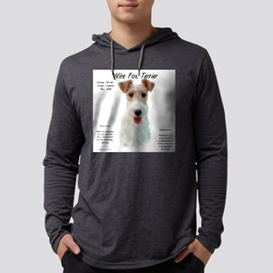 Wire Fox Terrier Mens Hooded Shirt