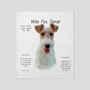 Wire Fox Terrier Throw Blanket
