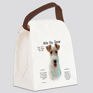 Wire Fox Terrier Canvas Lunch Bag