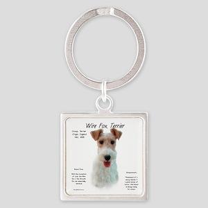 Wire Fox Terrier Square Keychain