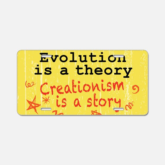 Evolution is a Theory Aluminum License Plate