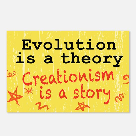 Evolution is a Theory Postcards (Package of 8)
