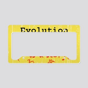 Evolution is a Theory License Plate Holder