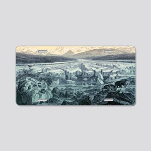 Ice age, historical artwork Aluminum License Plate