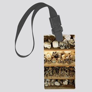 Hominid skull casts Large Luggage Tag