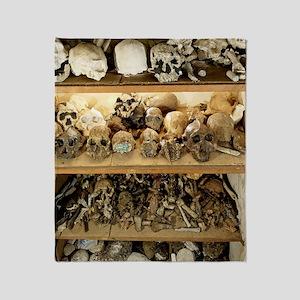 Hominid skull casts Throw Blanket