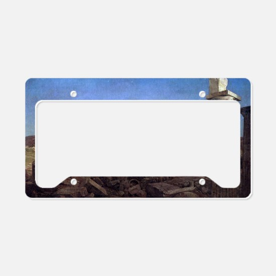 The Parthenon by Frederic Edw License Plate Holder
