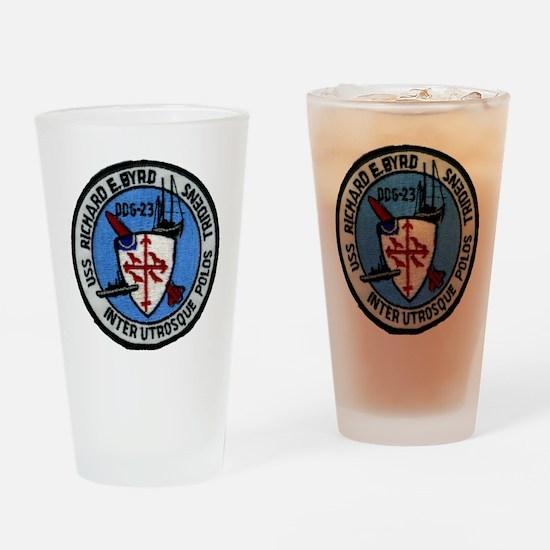 uss richard e. byrd patch transpare Drinking Glass