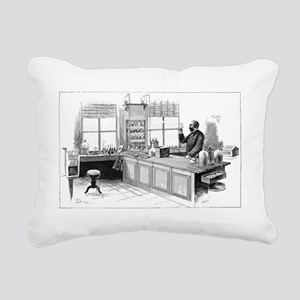 Koch and tuberculosis, 1 Rectangular Canvas Pillow