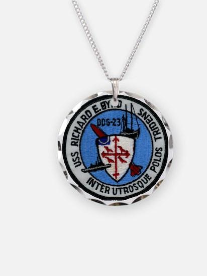 uss richard e. byrd patch tr Necklace